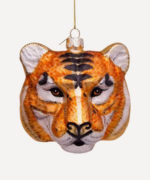Glass Tiger Head Ornament