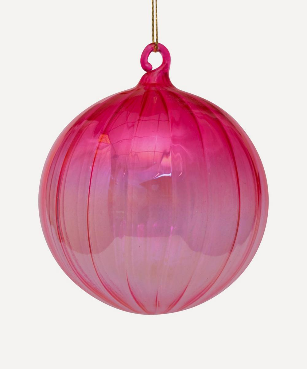 Unspecified - Glass Striped Ornament