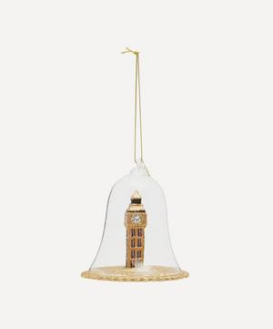 Glass Big Ben In Dome Ornament