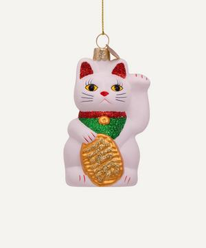 White Lucky Cat Hanging Decoration