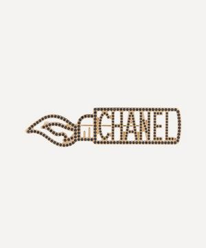 Turn of the Century Chanel Gilt Faux Jet Christmas Brooch
