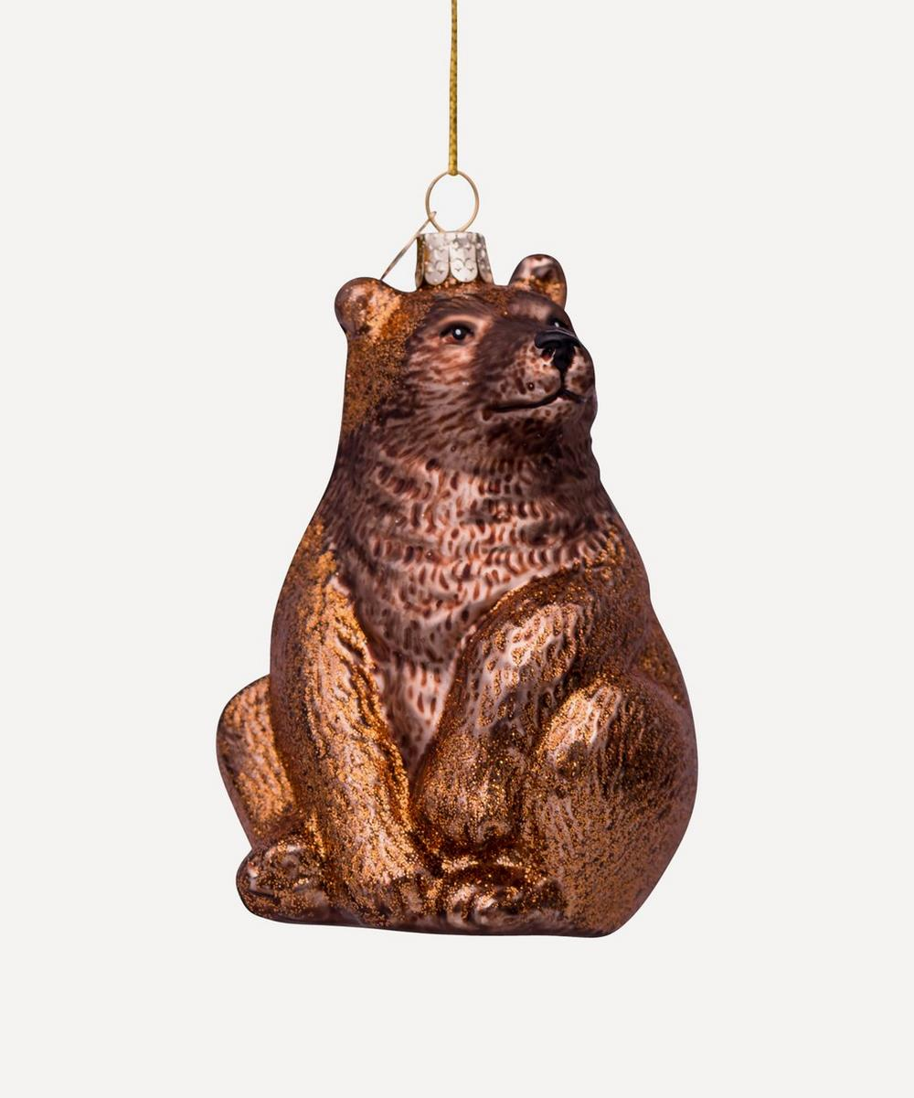 Unspecified - Glass Bear Ornament
