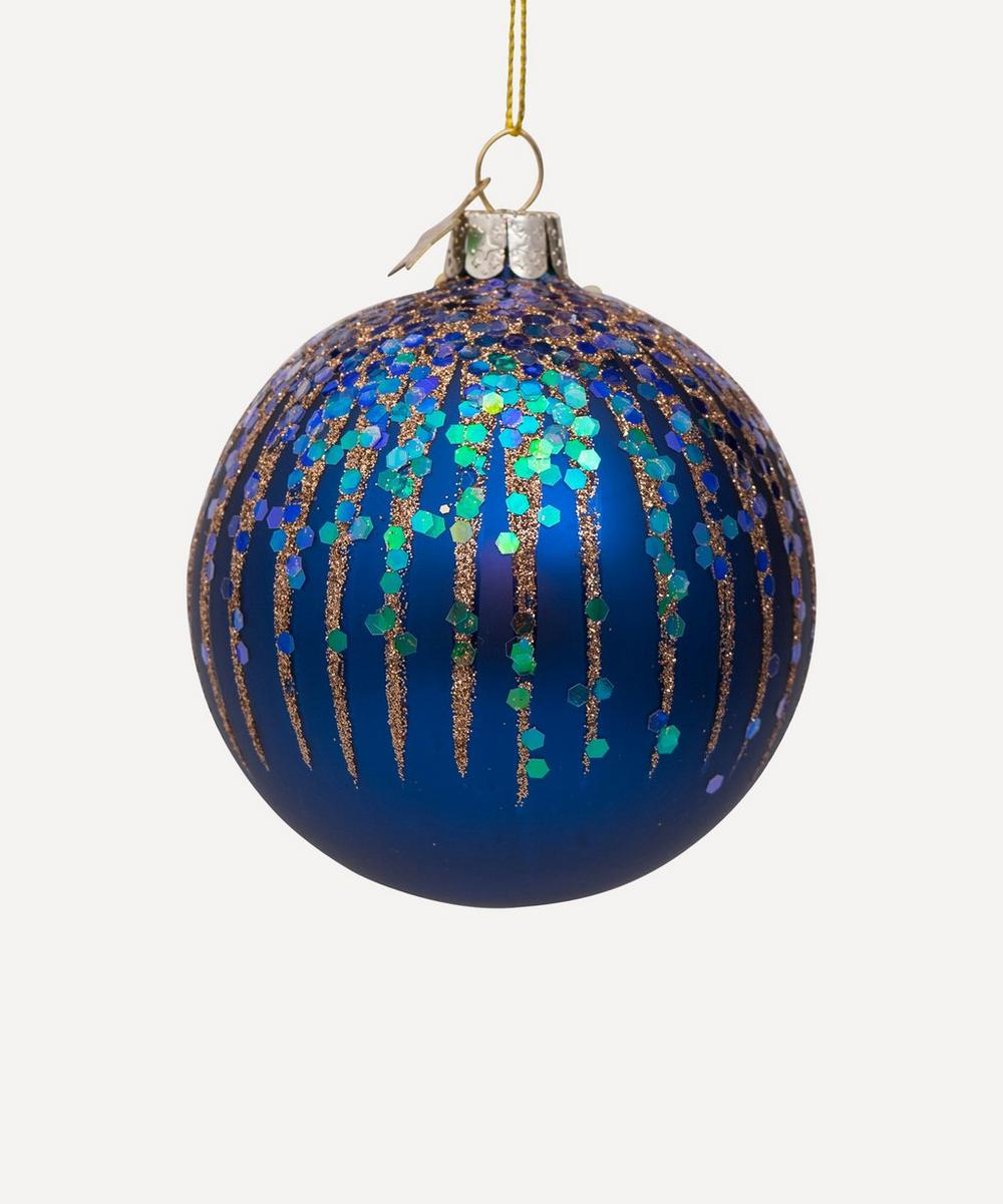 Unspecified - Glitter Firework Glass Bauble