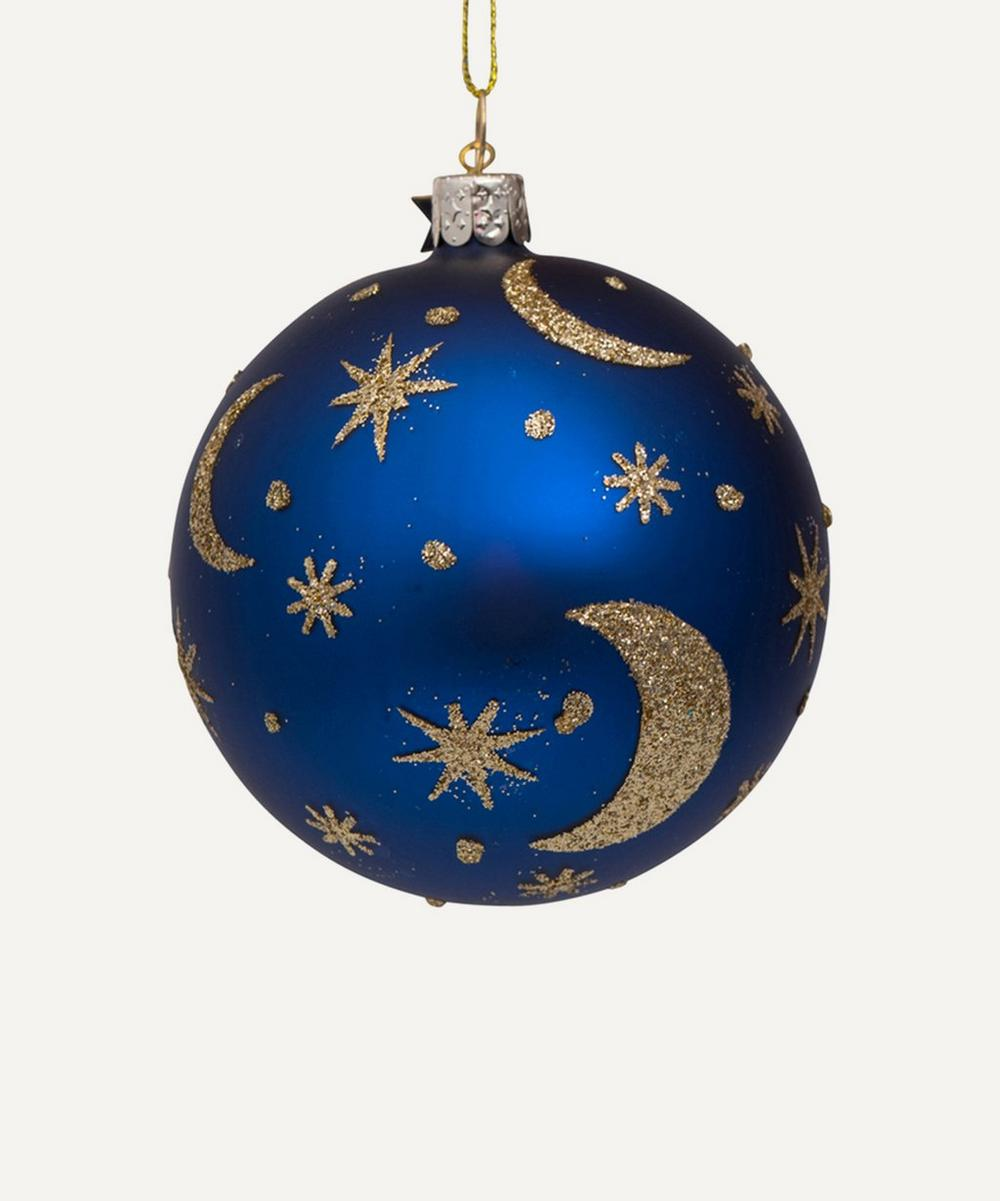 Unspecified - Moon and Stars Print Bauble