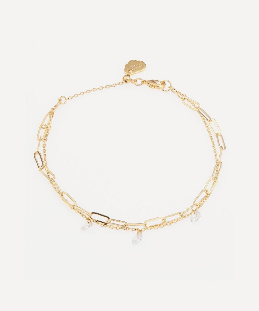 Estella Bartlett - Double-Chain Droplet Bracelet