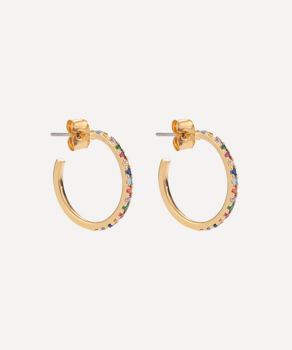 Estella Bartlett - Gold-Plated Pavé Large Hoop Earrings