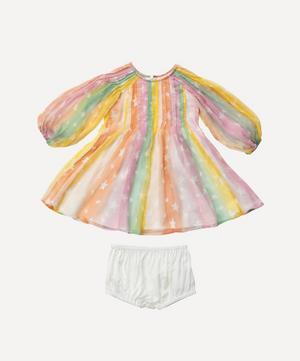 Rainbow Silk Dress 0-3 Years