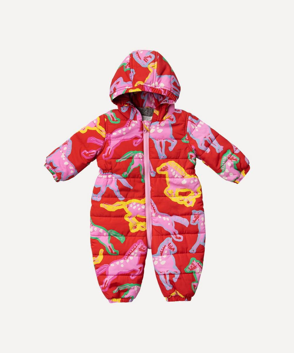 Stella McCartney Kids - Painted Horses Puffer All-in-One 3 Months-3 Years