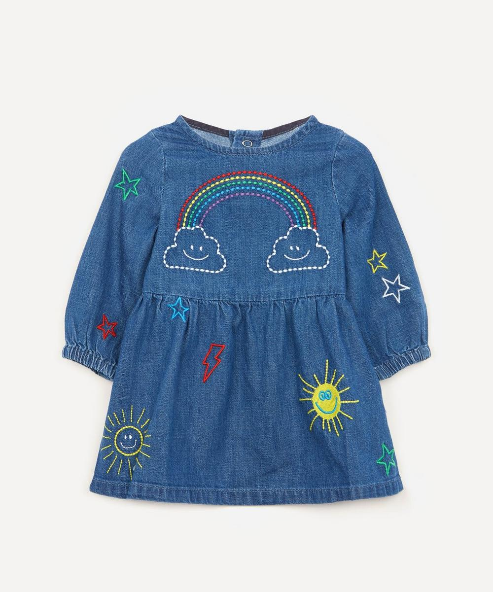 Stella McCartney Kids - Weather-Embroidered Chambray Dress 3 Months-3 Years