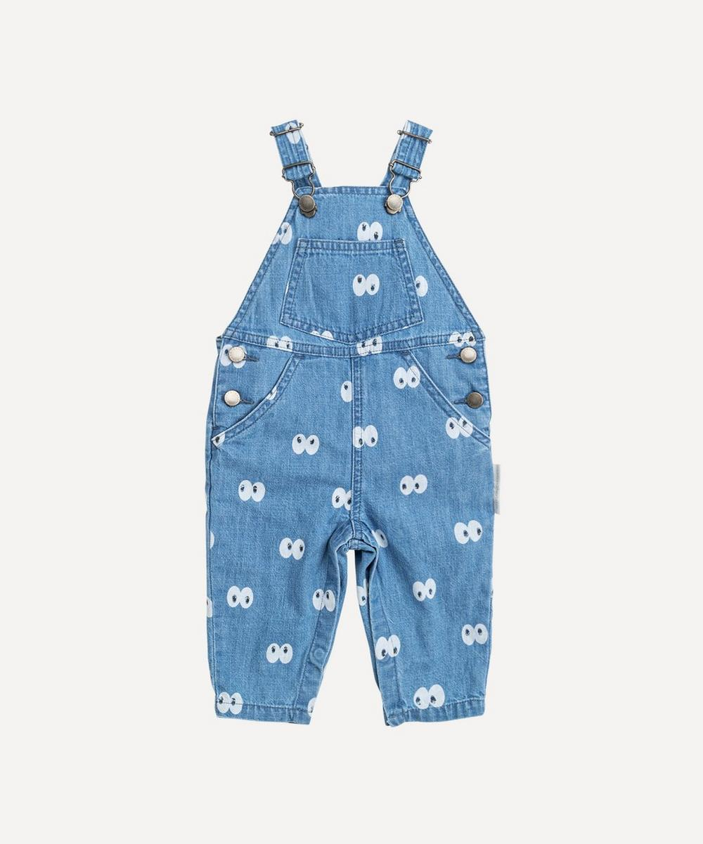 Stella McCartney Kids - Cartoon Eyes Chambray Dungarees 3 Months-3 Years