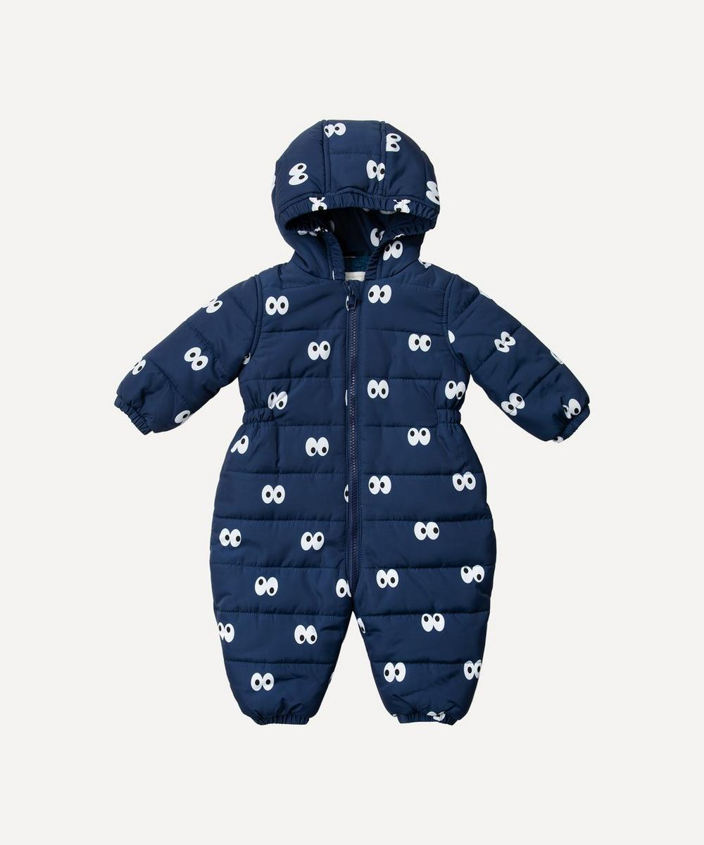 Stella McCartney Kids - Cartoon Eyes Puffer All-In-One 3 Months-3 Years