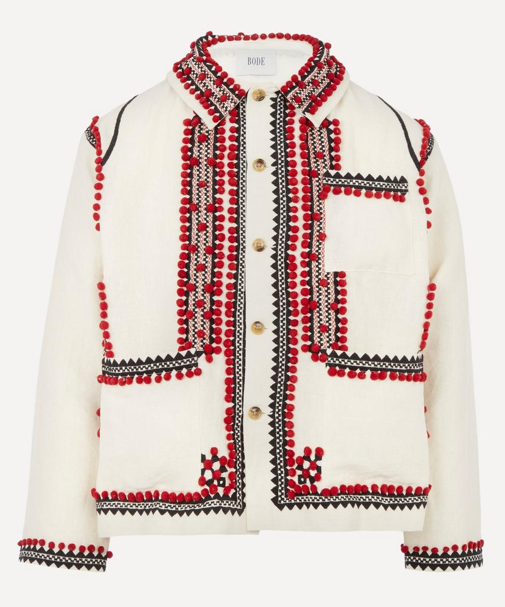 Bode - Pom-Pom Appliqué Workwear Jacket