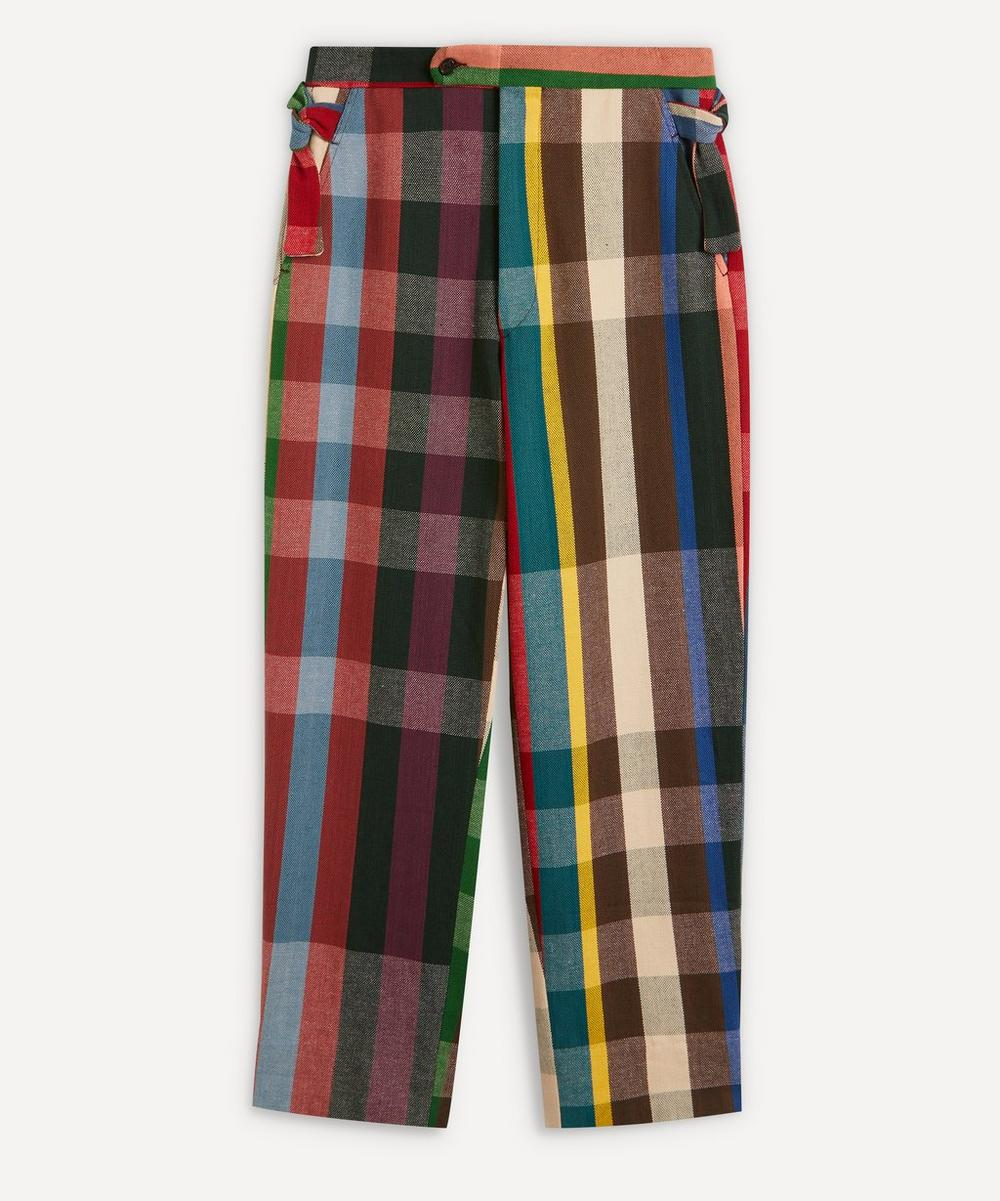 Bode - Workshop Plaid Cotton Trousers
