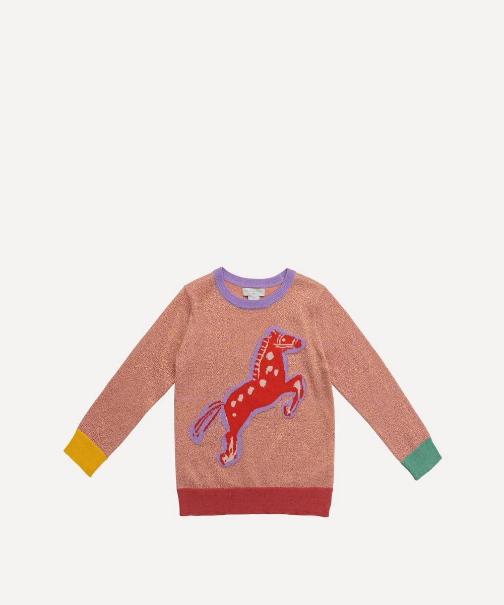 Stella McCartney Kids - Intarsia Horse Lurex Jumper 2-8 Years