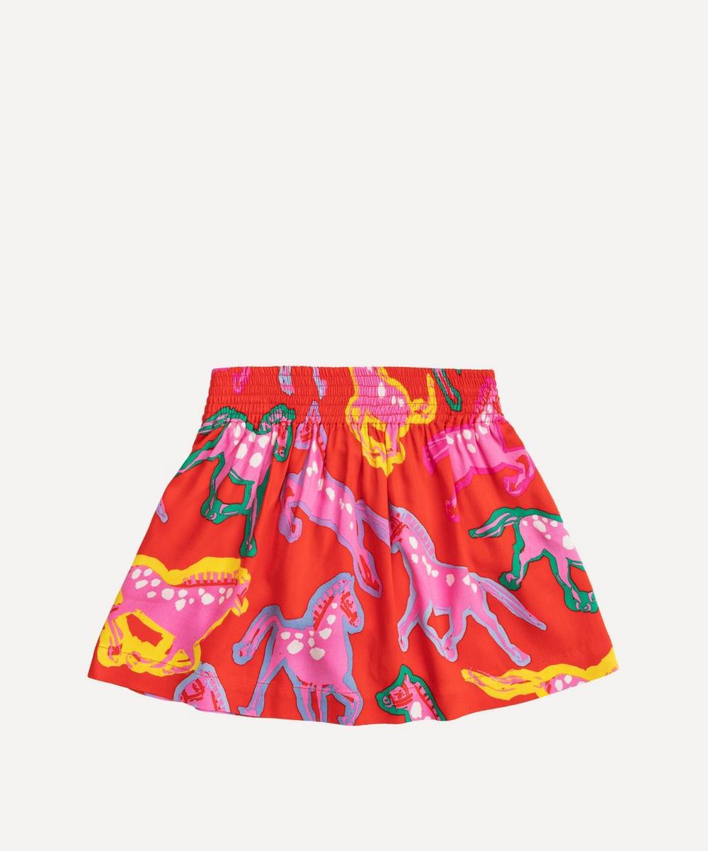 Stella McCartney Kids - Painted Horses Twill Skirt 2-8 Years