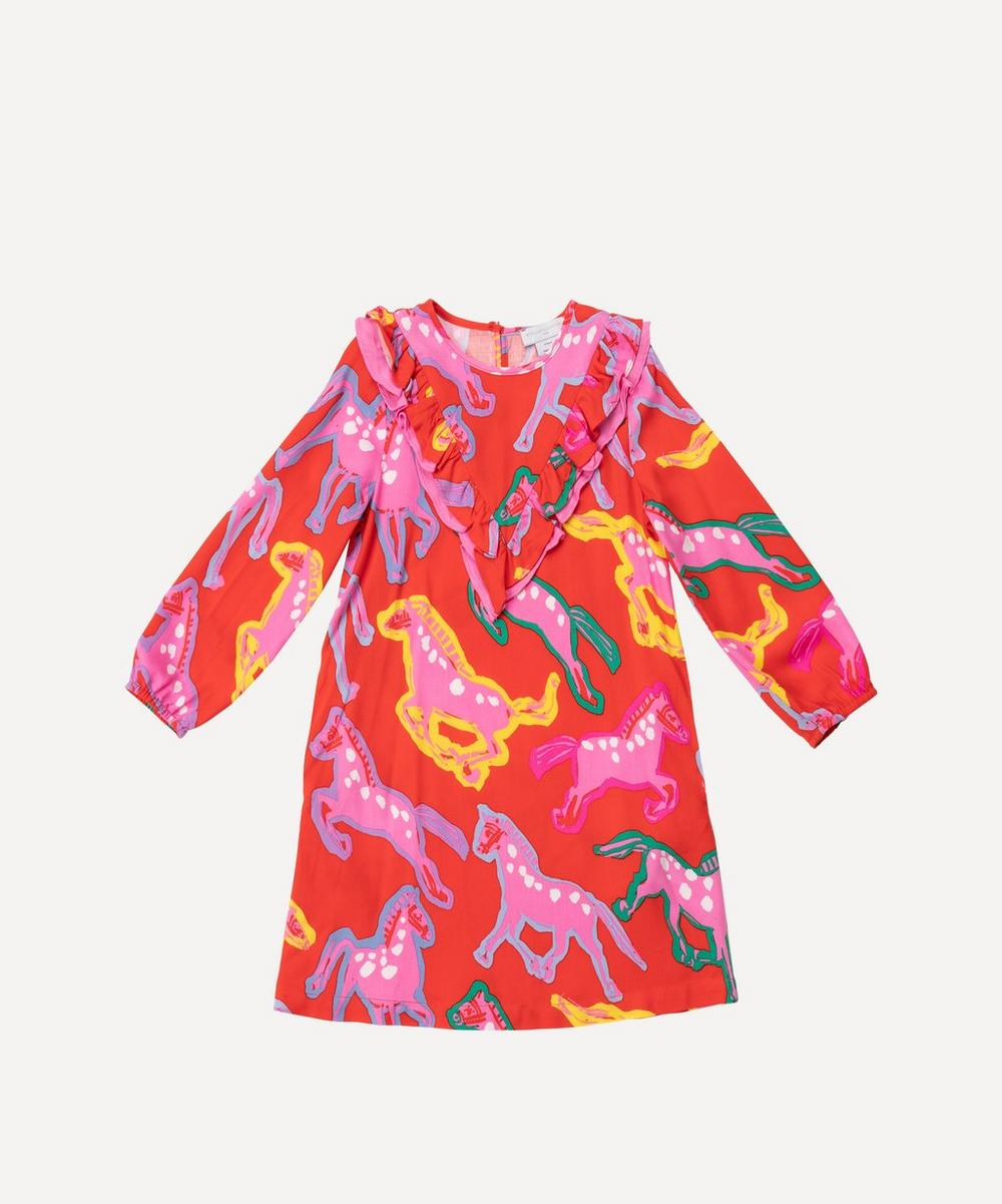 Stella McCartney Kids - Painted Horses Twill Dress 2-8 Years