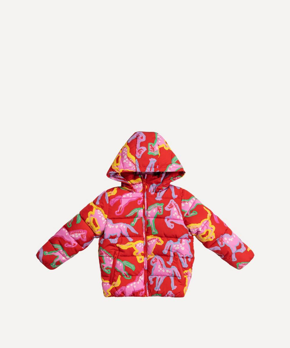 Stella McCartney Kids - Painted Horses Puffer Jacket 2-8 Years
