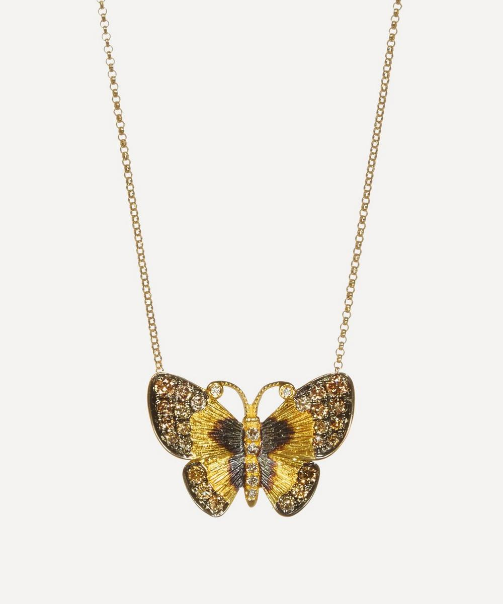 Annoushka - 18ct Gold Butterflies Diamond Pendant Necklace