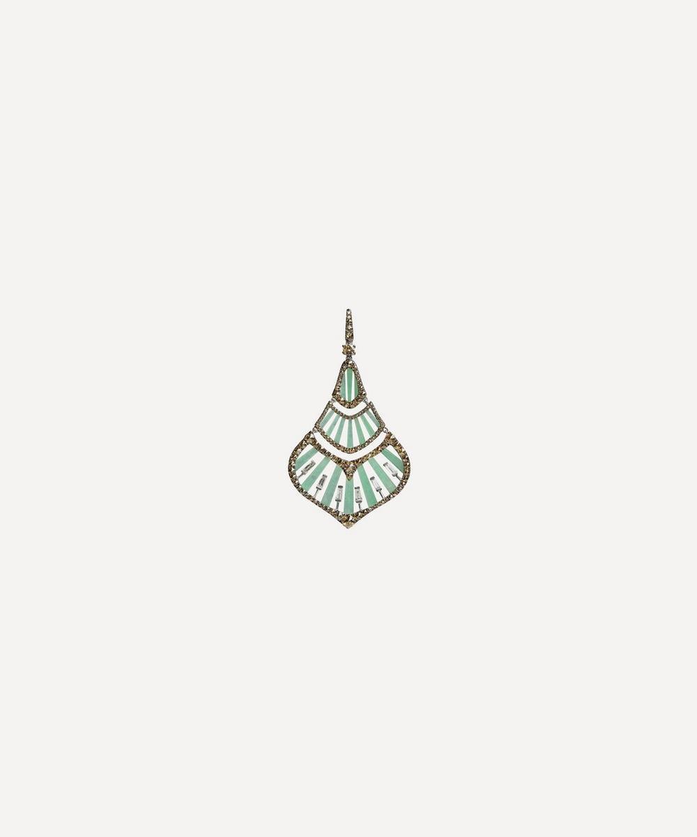 Annoushka - 18ct White Gold Flamenco Diamond and Jade Pendant