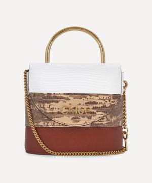 Aby Small Leather Lock Handbag