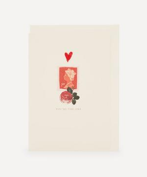 First Class Embroidered Valentine's Card