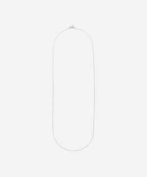 White Rhodium-Plated Liz Long Chain Necklace