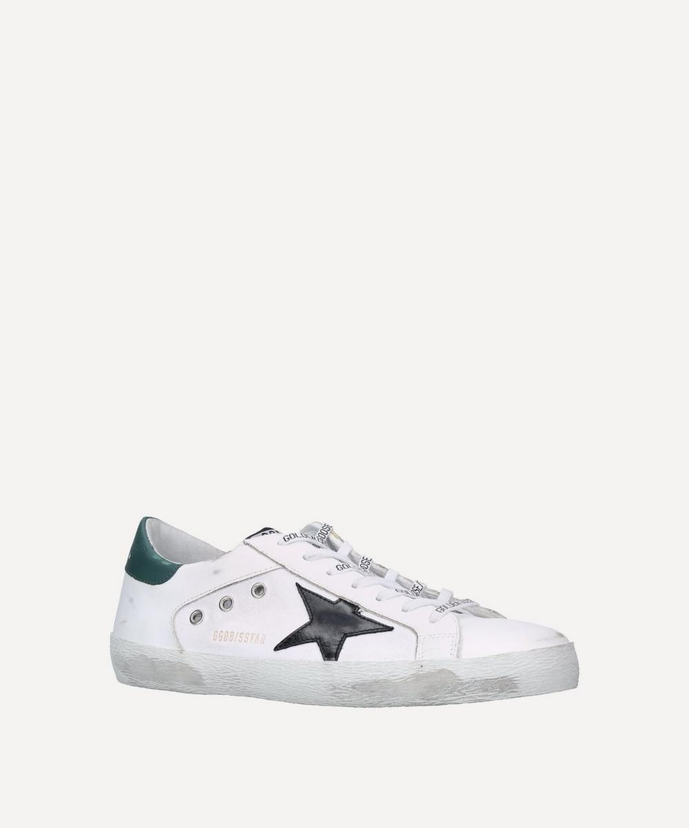 Golden Goose - Superstar Leather and Canvas Sneakers image number 0