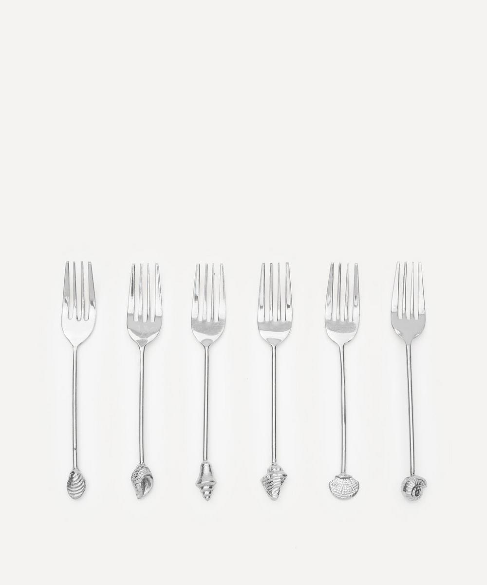 Anna + Nina - Silver-Tone Meramid Fork Set of Six
