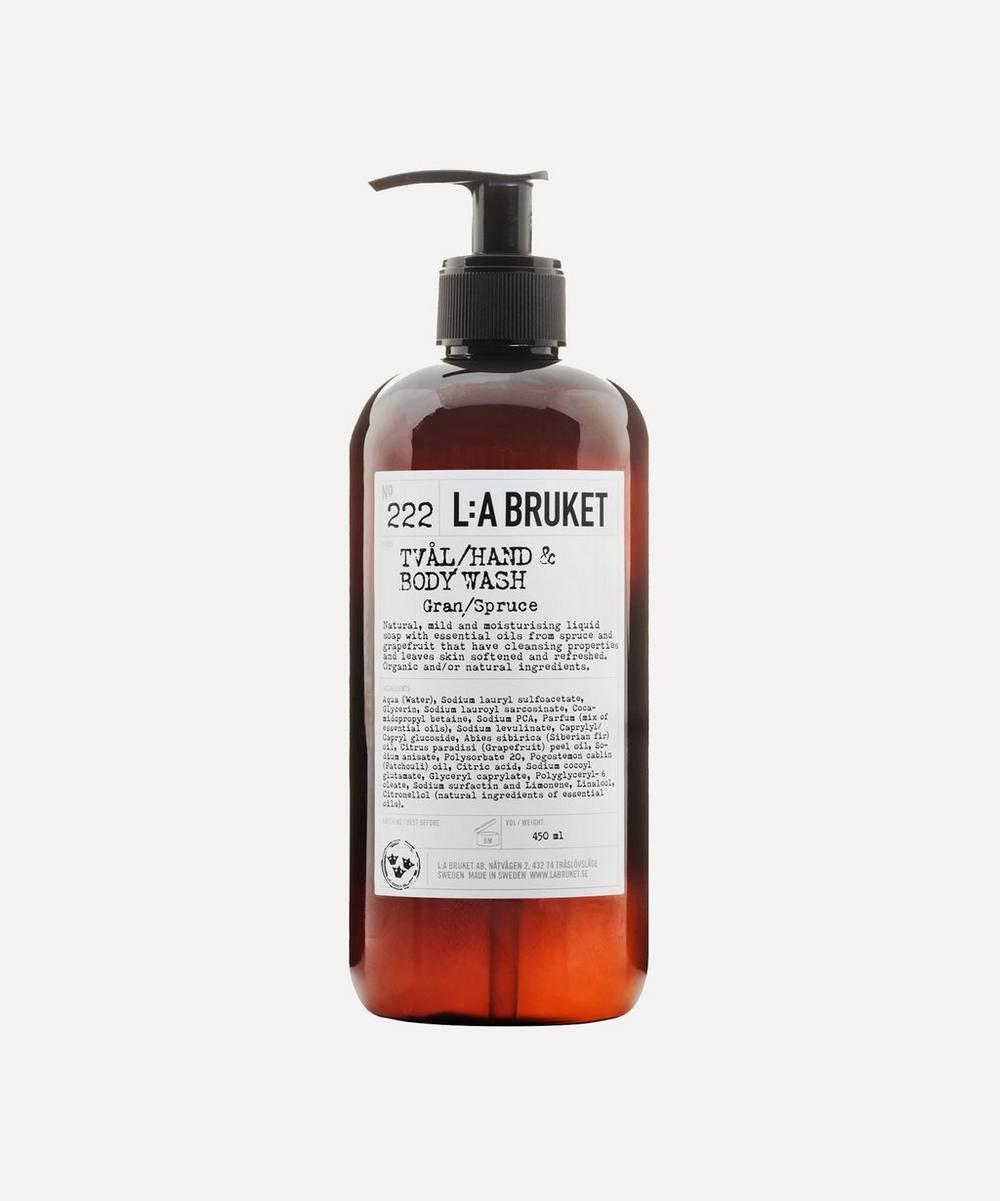 L:A Bruket - 222 Spruce Hand & Body Wash 450ml