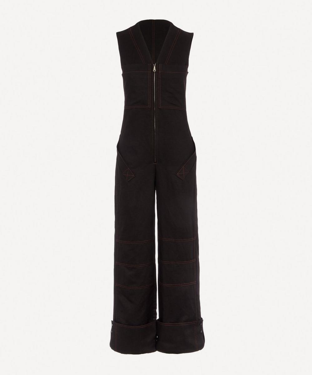 LOW CLASSIC - Cotton-Blend Wide-Leg Jumpsuit