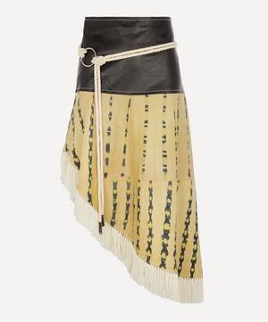 Amelia Leather Tie-Dye Skirt