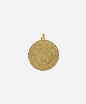 Gold Plated Vermeil Silver Marie Pendant Charm