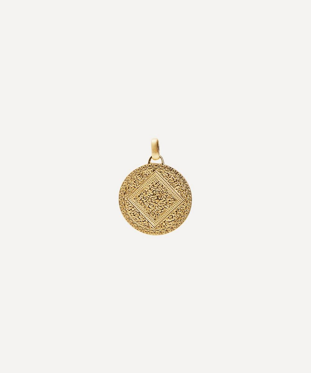 Monica Vinader - Gold Plated Vermeil Silver Mini Marie Pendant Charm