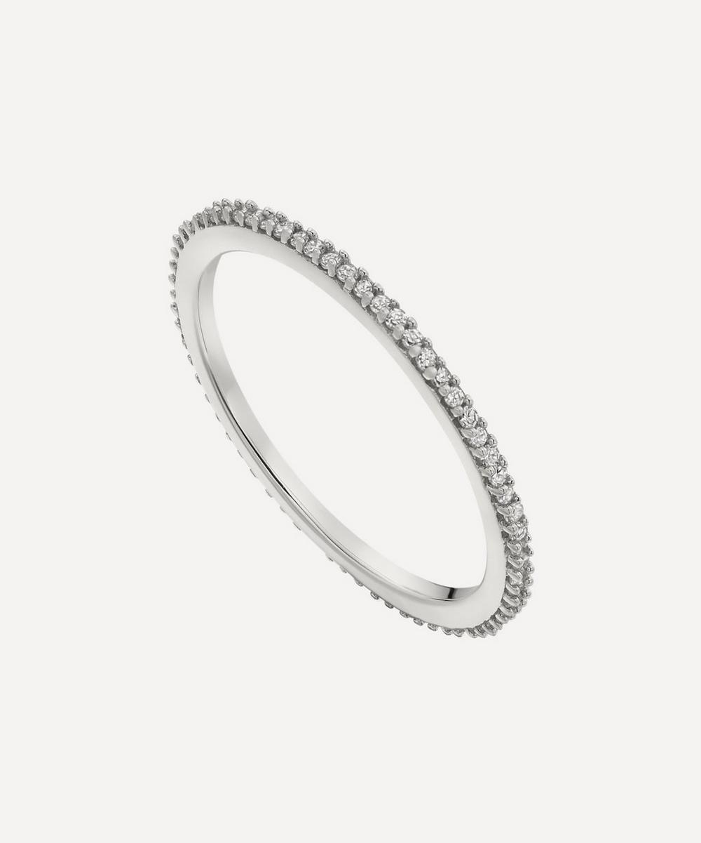 Monica Vinader - Silver Skinny Diamond Eternity Ring