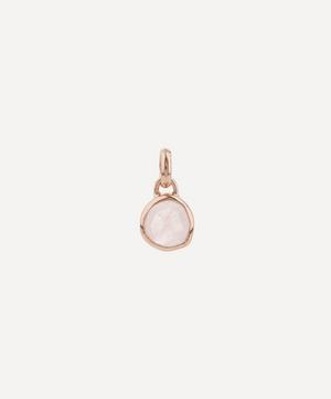Rose Gold Plated Vermeil Silver Siren Mini Rose Quartz Bezel Pendant