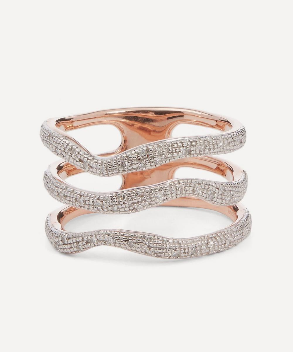 Monica Vinader - Riva Diamond Wave Triple Band Ring