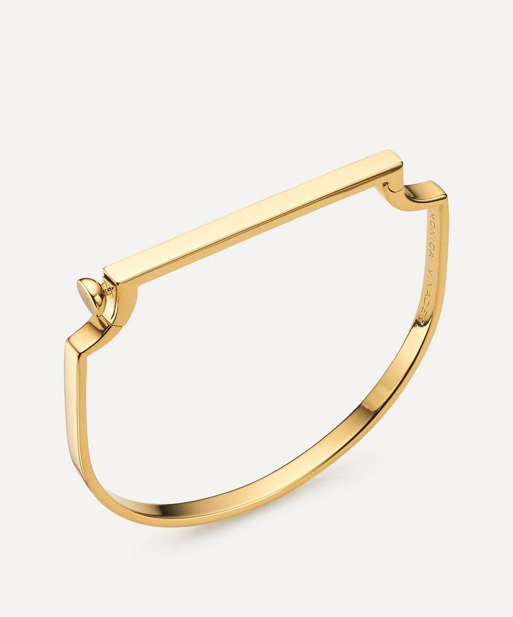 Monica Vinader - Gold Plated Vermeil Silver Signature Small Thin Bangle