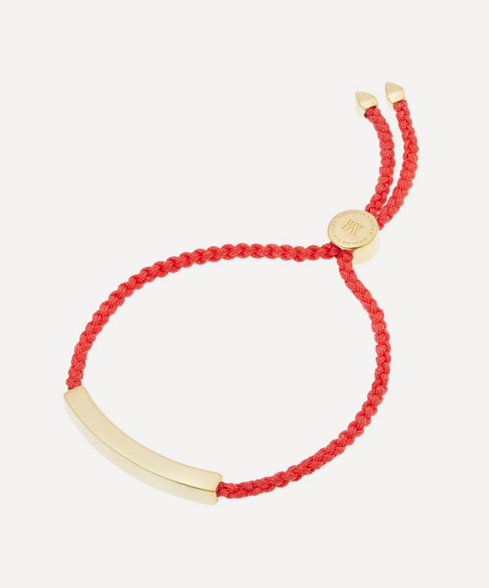 Monica Vinader - Gold Plated Vermeil Silver Linear Cord Friendship Bracelet