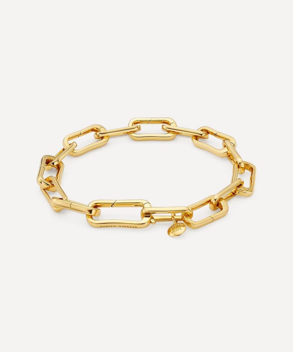 Monica Vinader - Gold Plated Vermeil Silver Alta Capture Charm Bracelet