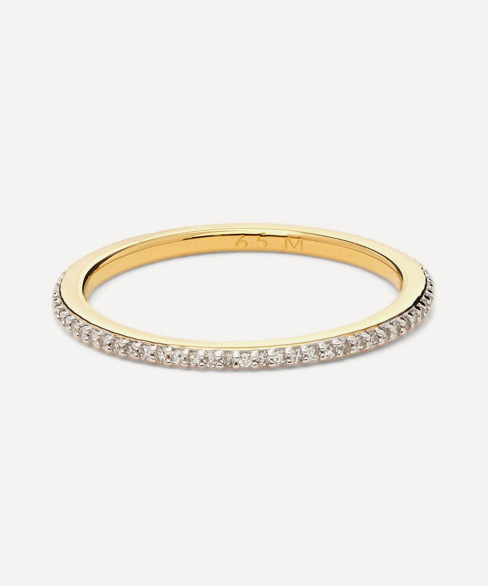 Monica Vinader - Gold Plated Vermeil Silver Skinny Diamond Eternity Ring