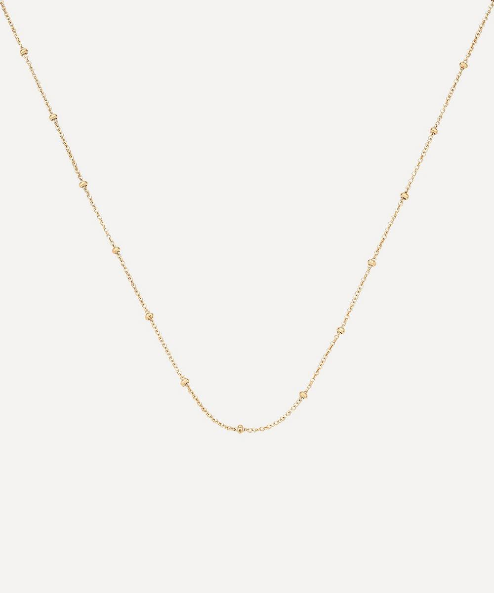 Monica Vinader - Gold Plated Vermeil Silver Long Fine Beaded Chain Necklace