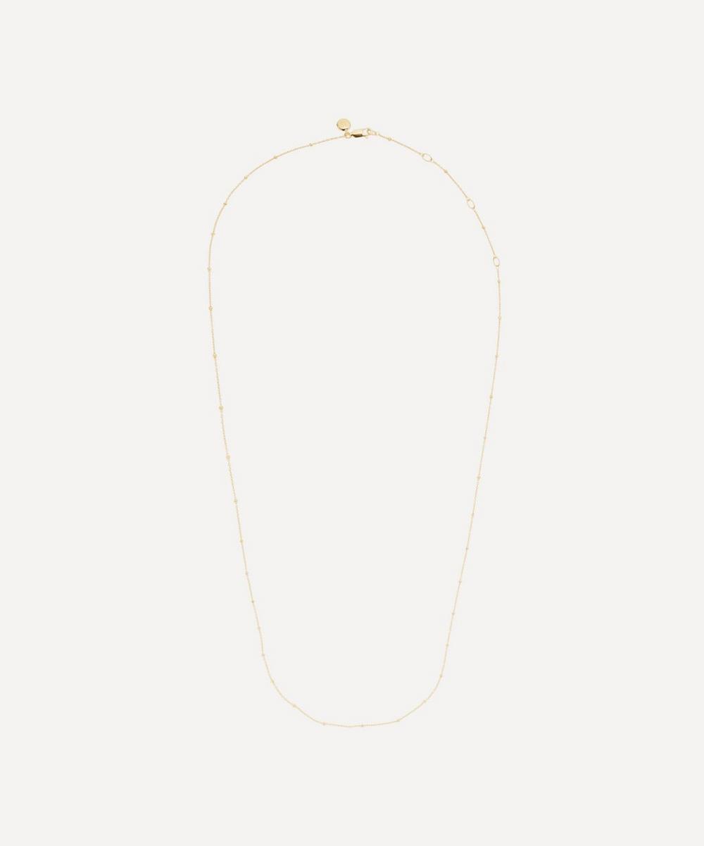 Monica Vinader - Gold Plated Vermeil Silver Short Fine Beaded Chain