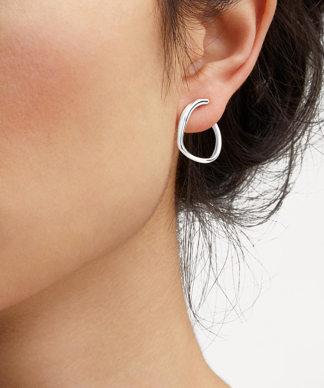 Large Sterling Silver Reef Earrings
