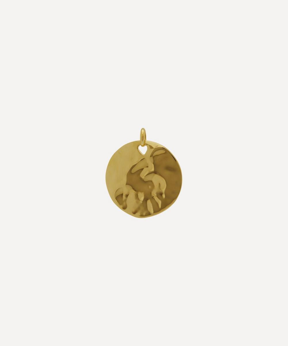 Monica Vinader - Gold Plated Vermeil Silver Siren Shore Pendant Charm