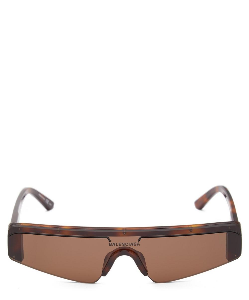 Balenciaga - Ski Flat-Top Rectangle Acetate Sunglasses