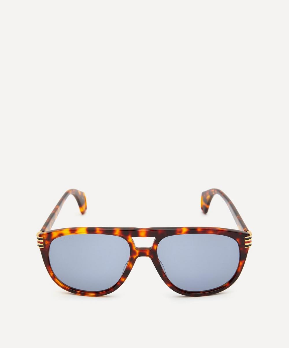 Gucci - Aviator Tortoiseshell Acetate Sunglasses