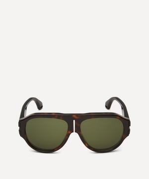 Flat-Top Injected Acetate Sunglasses