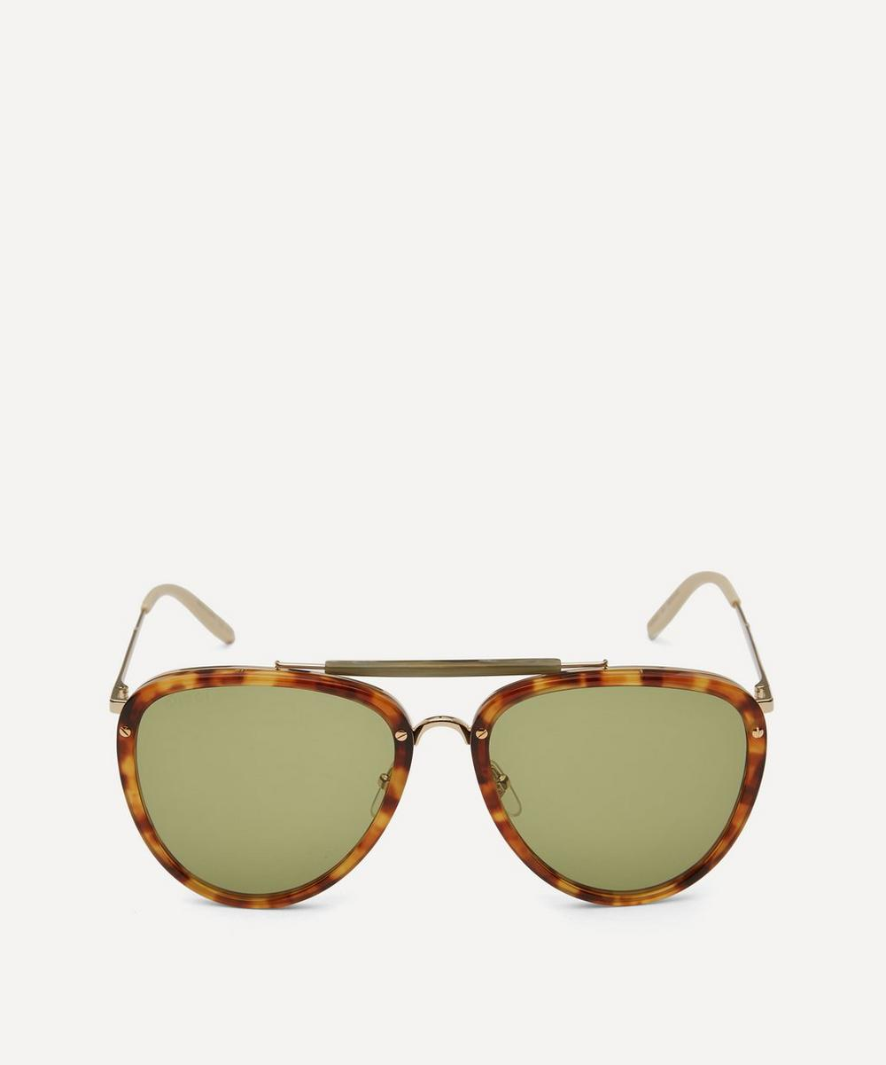 Gucci - Aviator Acetate and Metal Sunglasses