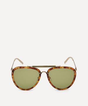 Aviator Acetate and Metal Sunglasses