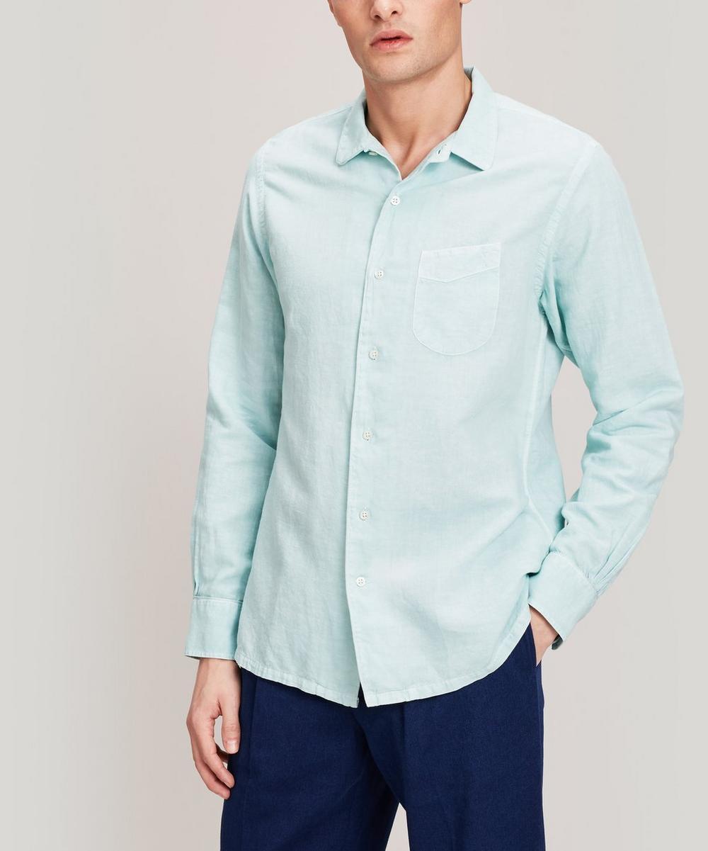 Officine Générale - Gaspard Cotton and Linen-Blend Shirt